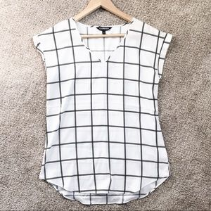 Express plaid blouse